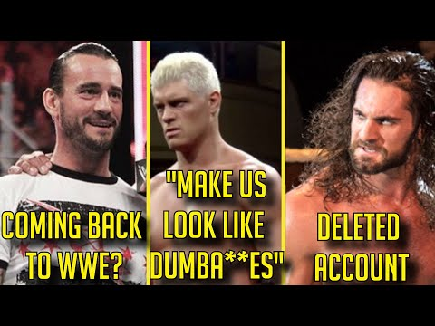 CM Punk RETURNING TO WWE BUT AEW BANNED HIM? Seth Rollins DELETES HIS ACCOUNT? Banks SIGNS WITH WWE?