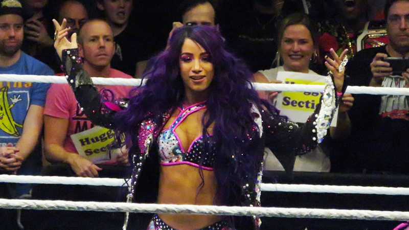 Sasha Banks At WWE Evolution