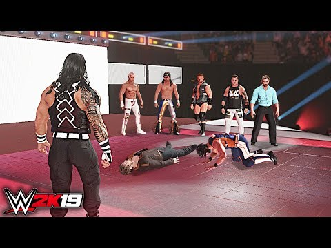 WWE 2K19 Custom Story – AEW Wrestling TakeOver WWE Raw 2019 toes. The Defend, Lesnar – Section 4