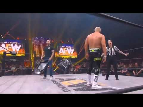 Shawn Spears hits Cody Rhodes with a vicious chair shot at AEW Fyter Fest ( also in slack circulate )