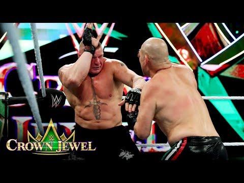 Brock Lesnar and Cain Velasquez alternate blows: WWE Crown Jewel 2019 (WWE Network Recurring)