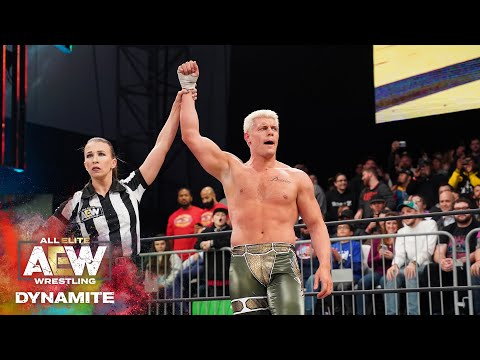 AEW DYNAMITE HOMECOMING | CODY PICKS UP HIS FIRST WIN IN 2020 OVER DARBY ALLIN