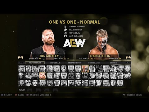 AEW Video Game  Roster – Over 80 Superstars & Legends! PS4/XBOX ONE (Thought)