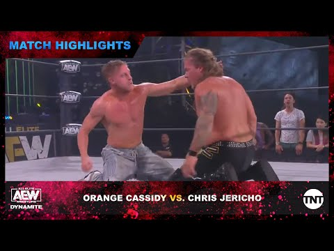 Orange Cassidy and Chris Jericho conflict in AEW predominant match