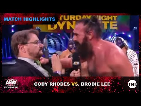 Pleasing Develop to AEW TNT Title Match Between Cody Rhodes and Mr. Brodie Lee