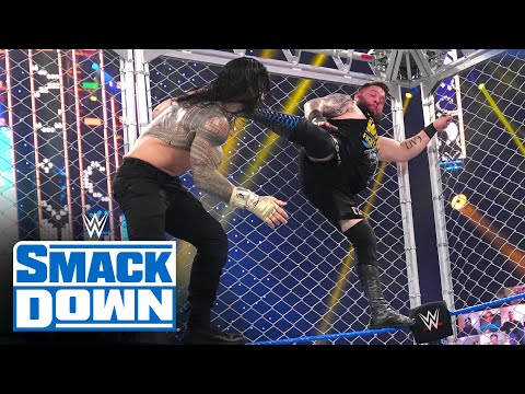 Roman Reigns vs. Kevin Owens – Current Title Metal Cage Match: SmackDown, Dec. 25, 2020