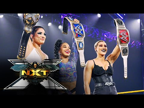 Rhea Ripley, Bianca Belair surprise Gonzalez with a champions' salute: WWE NXT, April 13, 2021