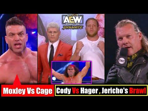 AEW Jon Moxley Vs Brian Cage😔||AEW Cody Vs Hager🤨||AEW Jericho Vs Cassidy😘||AEW Dynamite Highlights.