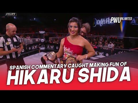 AEW Spanish Commentary Caught Making Enjoyable Of Hikaru Shida's Accent
