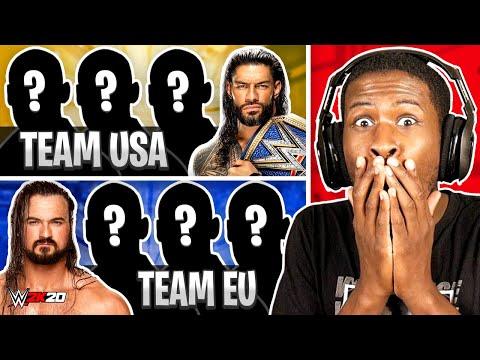 WWE 2K20 – 4 AMERICAN WRESTLERS vs 4 EUROPEAN WRESTLERS!