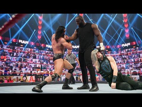 WWE Raw 15 June 2021 Omos vs Drew Mcintyre. OMOS reveals strength with every person. Omos vs All Celeb