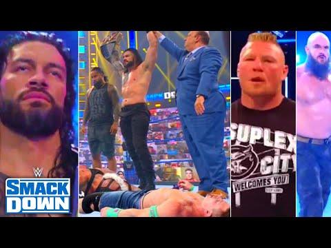 WWE SmackDown twenty third July 2021 highlights, Roman Reigns Assault Cena, Edge Vs Seth,Braun, Brock returns
