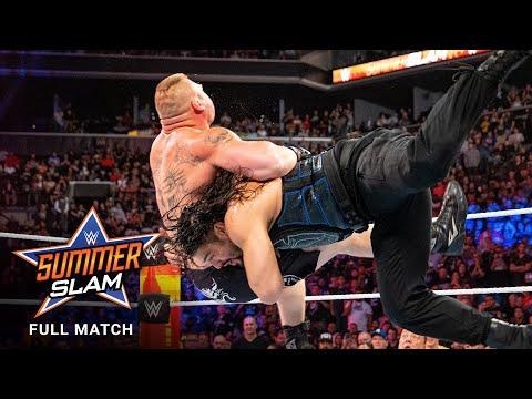 FULL MATCH – Brock Lesnar vs. Roman Reigns – Standard Title Match: SummerSlam 2018