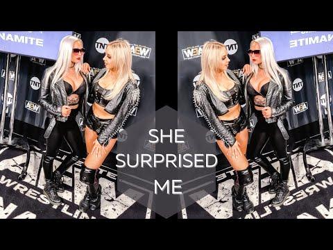 Penelope Ford Stunned Me | AEW Backstage Vlog