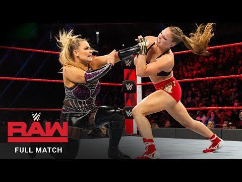 FULL MATCH – Ronda Rousey vs. Natalya – Raw Women's Title Match: Raw, December 24, 2018