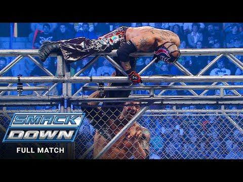 FULL MATCH – Rey Mysterio vs. Batista – Metal Cage Match: SmackDown, Jan. 15, 2010